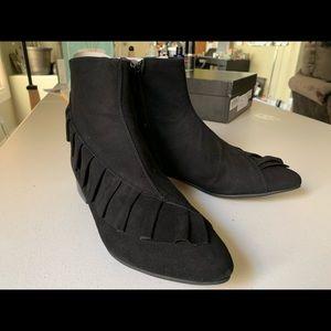 Renvy Mid Heel Booties Black Suede 6 1/2, 6.5